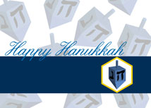 Happy Dreidel Hanukkah Cards